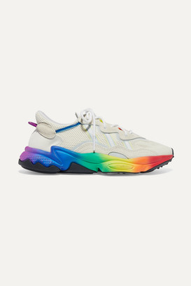adidas Ozweego Pride Suede-trimmed Mesh Sneakers - White
