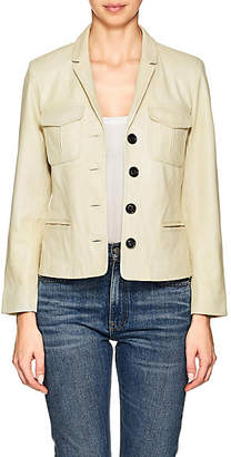 Zadig & Voltaire WOMEN'S LIAM LEATHER JACKET - OLIVE SIZE L