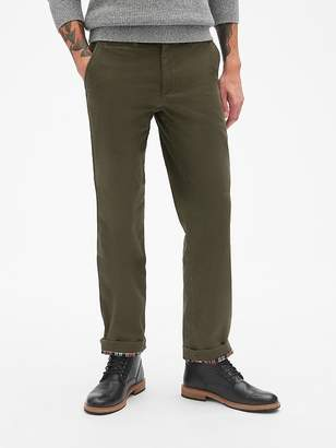 Gap Flannel-Lined Khakis in Straight Fit with GapFlex