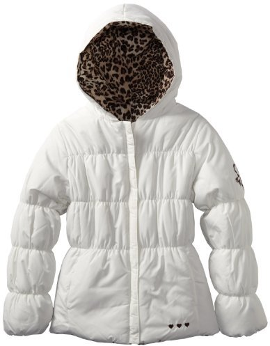 Amy Byer Girls 7-16 Solid Jacket Reversing to Leopard Print
