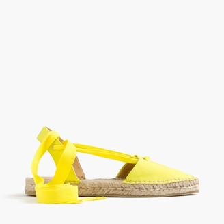 Canvas pointy-toe espadrilles with ankle wrap $118 thestylecure.com
