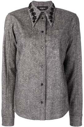 Rochas embellished collar shirt