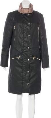 J Brand Knee-Length Button-Up Jacket