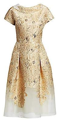 Teri Jon by Rickie Freeman Women's Metallic Fit-&-Flare Dress