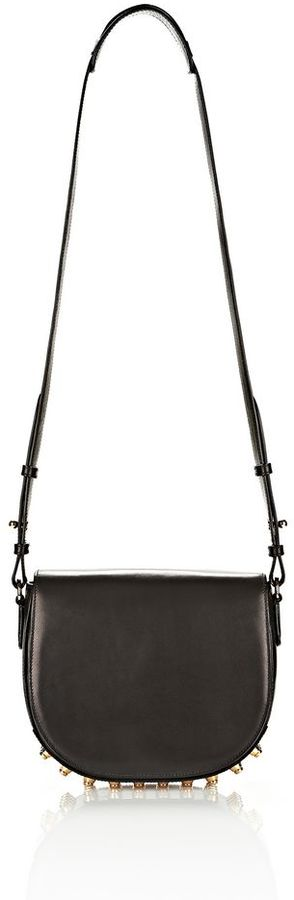 Alexander Wang Lia In Black With Yellow Gold