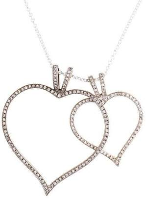 Theo Fennell Diamond Double Heart Pendant Necklace