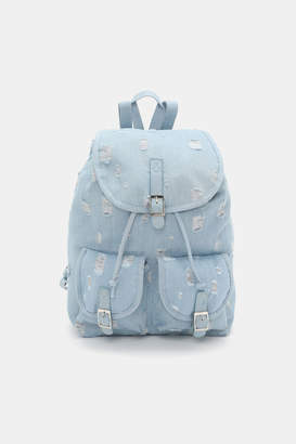 Ardene Distressed Denim Backpack