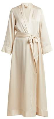 Morpho + Luna - Jade Silk Robe - Womens - Cream