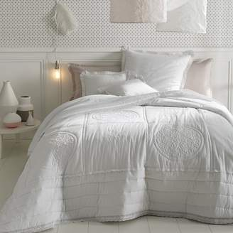 La Redoute Interieurs Oyena Embroidered Cotton Quilted Throwover