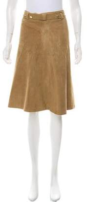 Mayle Suede Knee-Length Skirt