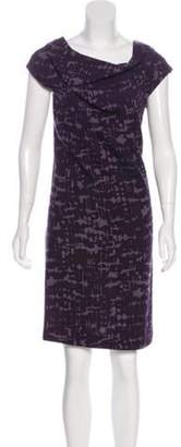 Bottega Veneta Printed Knee-Length Dress Plum Printed Knee-Length Dress