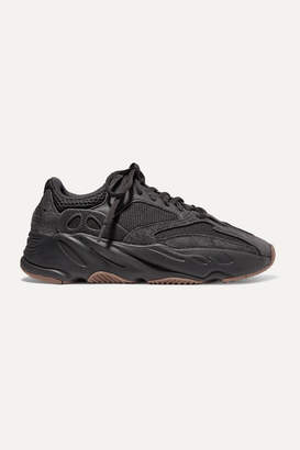 adidas Yeezy Boost 700 Mesh And Suede Sneakers - Black