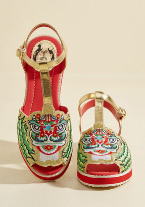May I Have This Lion Dance? Sandal in 37 $99.99 thestylecure.com