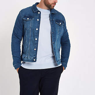 River Island Big and Tall blue denim jacket