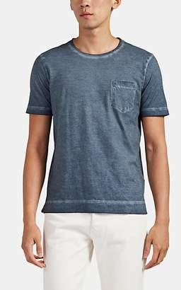 Massimo Alba Men's Panarea Watercolor-Dyed Cotton T-Shirt - Blue