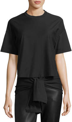 Cédric Charlier Short-Sleeve High-Low Tee