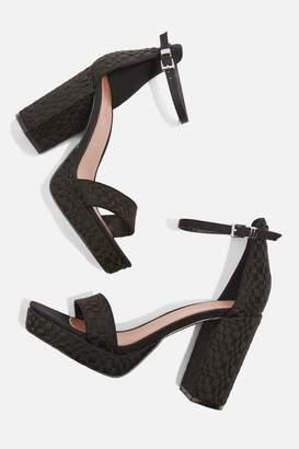 Topshop Sloane Woven Platform Sandals