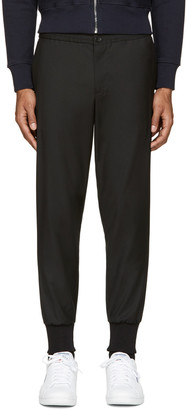 PS by Paul Smith Black Wool Track Trousers $320 thestylecure.com