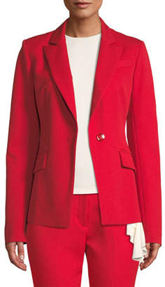 Milly Fitted One-Button Blazer