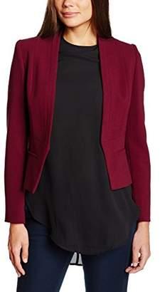 Jacques Vert Women's Angular Crepe Jackets, (Dark Red)