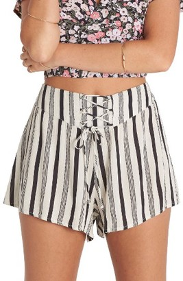 Women's Billabong Sunny Eyes Lace-Up Woven Shorts $34.95 thestylecure.com