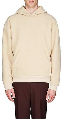 Givenchy Men's Logo-Embroidered Fleece Oversized Hoodie - Neutral