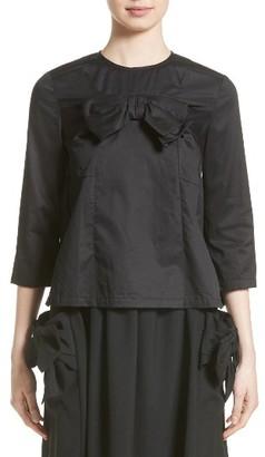 Women's Comme Des Garcons Satin Bow Blouse $425 thestylecure.com