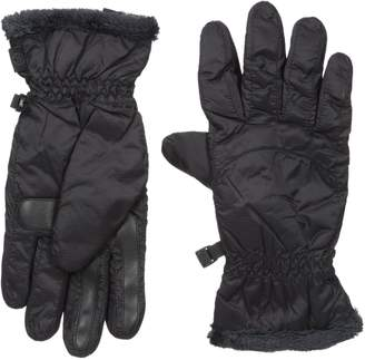 Isotoner Women's Smartouch Sleekheat Smartdri Packable Nylon Glove