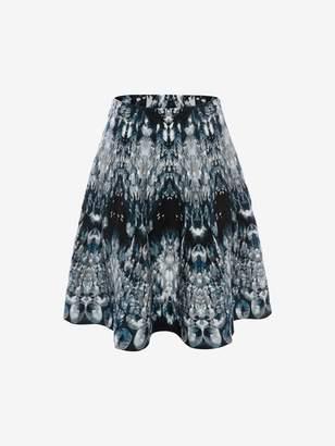 Alexander McQueen Crystal Jacquard Mini Skirt