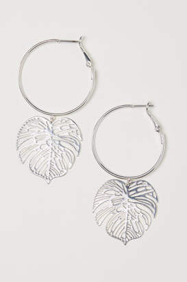 H&M Earrings with Pendants - Silver