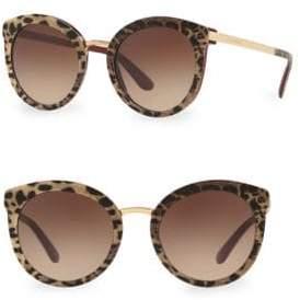 Dolce & Gabbana DG4268 Leopard 52MM Cat Eye Sunglasses