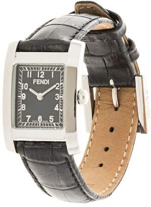 Fendi Pre-Owned square face wrist watch