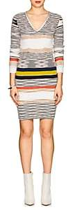 Missoni Women's Striped Cashmere Fitted Sweaterdress - White