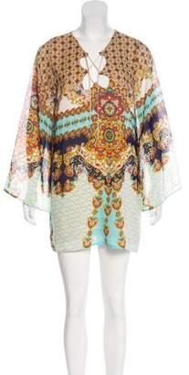 Karen Zambos Printed Mini Dress