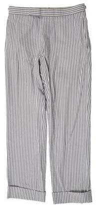 Thom Browne Slim-Fit Seersucker Pants