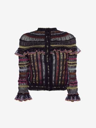 Alexander McQueen Sheer Knit Cardigan