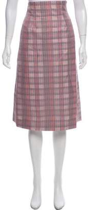 Brooks Brothers Plaid Midi Skirt