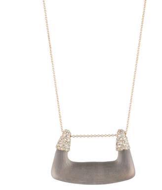 Alexis Bittar Buckle Shape Lucite Pendant Necklace
