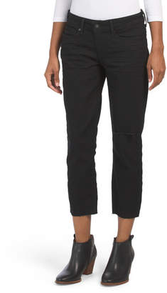 Juniors Slim Crop Cut Off Ali Jeans