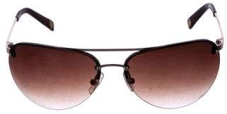 MICHAEL Michael Kors Rimless Aviator Sunglasses