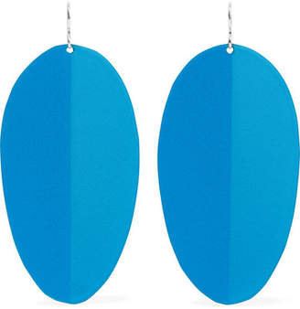 Simon Miller Pedal Enamel And Silver-tone Earrings - Blue