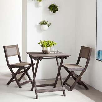 west elm Portside Outdoor Folding Bistro Table - Weathered Cafe