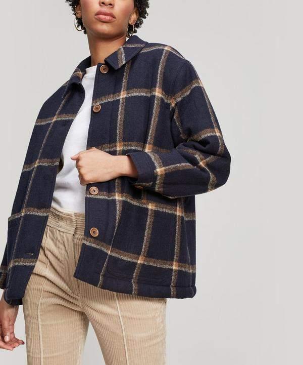 Fanny Check Wool Jacket