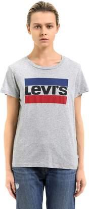 Levi's Levis Logo Printed Cotton Jersey T-Shirt