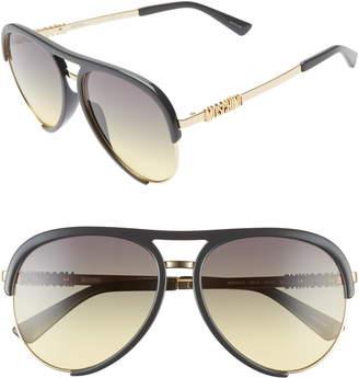 Moschino 58mm Aviator Sunglasses