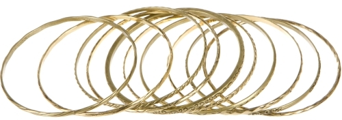 Burnished Metal Bangles
