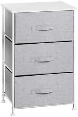 InterDesign Aldo Three-Drawer Fabric Storage Unit