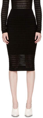 Alexander Wang Black Float Stitch Skirt