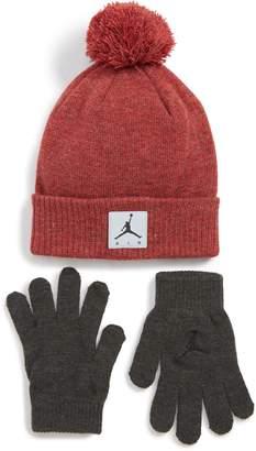 Nike JORDAN Jordan Air Heather Beanie & Gloves Set