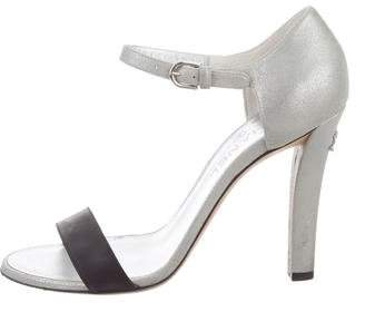 Chanel CC Ankle Strap Sandals